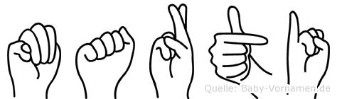 Marti in Fingersprache für Gehörlose