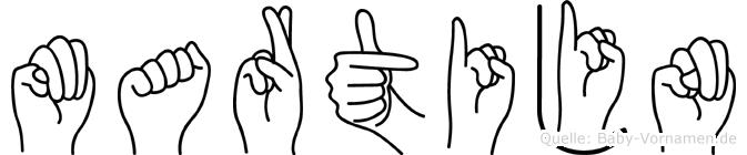 Martijn im Fingeralphabet der Deutschen Gebärdensprache