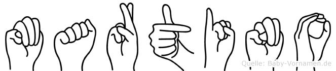 Martino in Fingersprache für Gehörlose