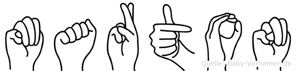 Marton im Fingeralphabet der Deutschen Gebärdensprache