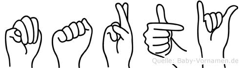 Marty in Fingersprache für Gehörlose