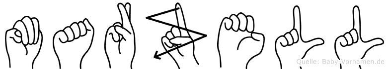 Marzell im Fingeralphabet der Deutschen Gebärdensprache