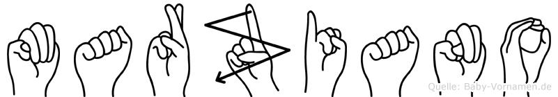 Marziano in Fingersprache für Gehörlose