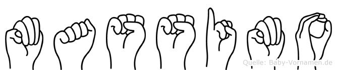 Massimo im Fingeralphabet der Deutschen Gebärdensprache