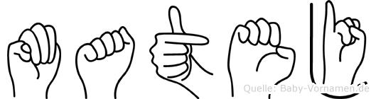 Matej im Fingeralphabet der Deutschen Gebärdensprache