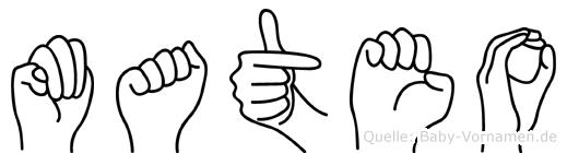 Mateo in Fingersprache für Gehörlose