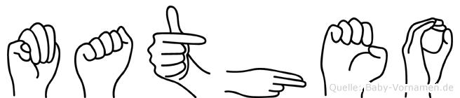 Matheo im Fingeralphabet der Deutschen Gebärdensprache