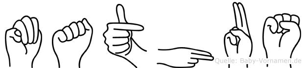 Mathäus im Fingeralphabet der Deutschen Gebärdensprache
