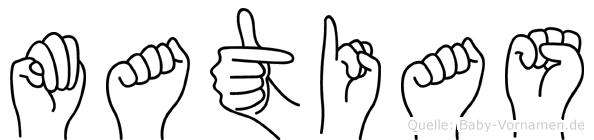 Matias in Fingersprache für Gehörlose