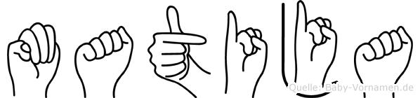 Matija im Fingeralphabet der Deutschen Gebärdensprache