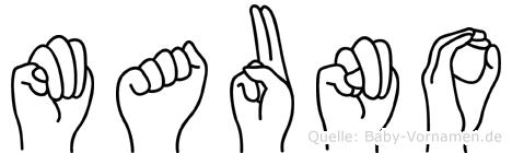 Mauno in Fingersprache für Gehörlose