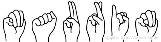 Maurin in Fingersprache für Gehörlose