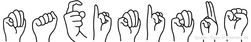 Maximinus im Fingeralphabet der Deutschen Gebärdensprache