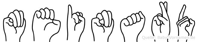 Meinard in Fingersprache für Gehörlose