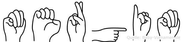 Mergim im Fingeralphabet der Deutschen Gebärdensprache