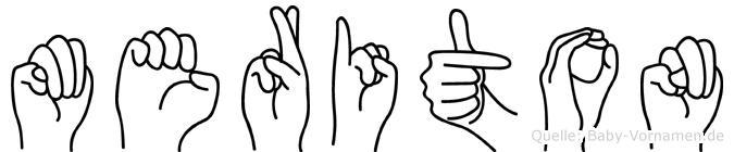 Meriton im Fingeralphabet der Deutschen Gebärdensprache