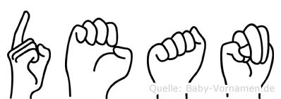 Dean in Fingersprache für Gehörlose