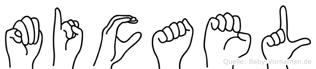 Micael im Fingeralphabet der Deutschen Gebärdensprache