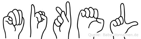 Mikel im Fingeralphabet der Deutschen Gebärdensprache