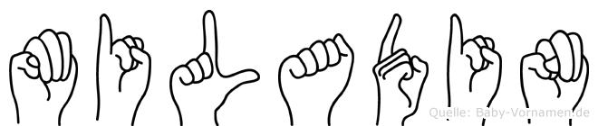 Miladin im Fingeralphabet der Deutschen Gebärdensprache