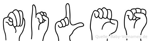 Miles im Fingeralphabet der Deutschen Gebärdensprache