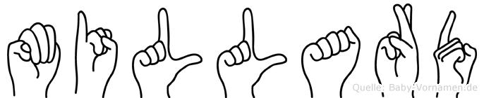 Millard im Fingeralphabet der Deutschen Gebärdensprache