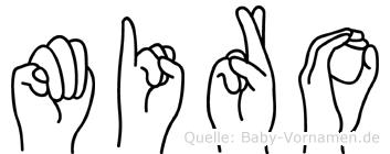 Miro im Fingeralphabet der Deutschen Gebärdensprache