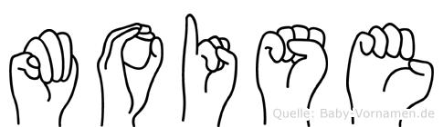 Moise im Fingeralphabet der Deutschen Gebärdensprache
