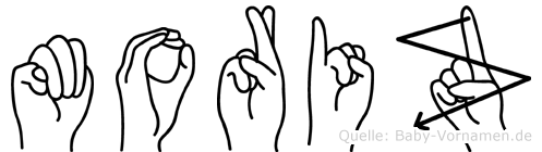 Moriz in Fingersprache für Gehörlose