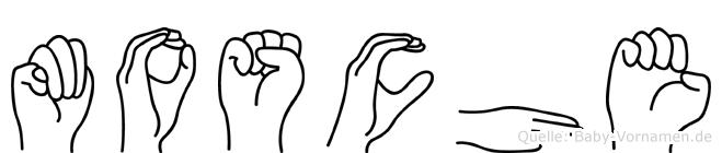 Mosche im Fingeralphabet der Deutschen Gebärdensprache