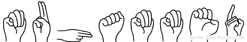 Muhammed im Fingeralphabet der Deutschen Gebärdensprache