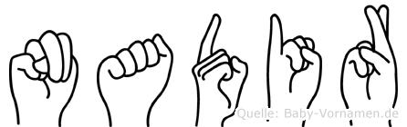 Nadir im Fingeralphabet der Deutschen Gebärdensprache