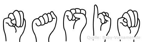 Nasim in Fingersprache für Gehörlose