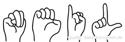 Neil im Fingeralphabet der Deutschen Gebärdensprache