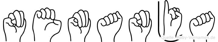 Nemanja im Fingeralphabet der Deutschen Gebärdensprache