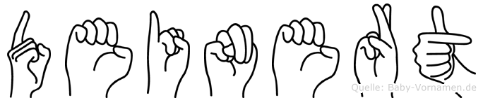 Deinert in Fingersprache für Gehörlose