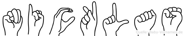 Nicklas in Fingersprache für Gehörlose