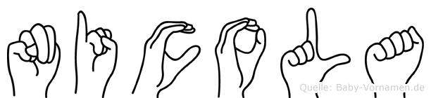 Nicola im Fingeralphabet der Deutschen Gebärdensprache