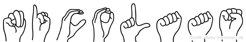 Nicolaas in Fingersprache für Gehörlose