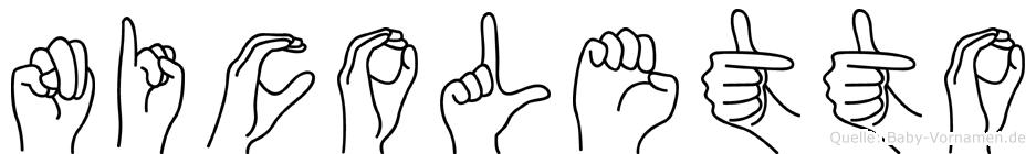 Nicoletto im Fingeralphabet der Deutschen Gebärdensprache