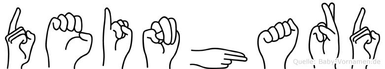 Deinhard im Fingeralphabet der Deutschen Gebärdensprache