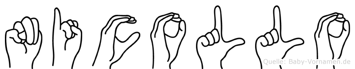 Nicollo im Fingeralphabet der Deutschen Gebärdensprache