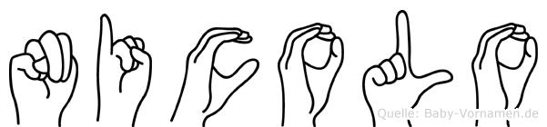 Nicolo im Fingeralphabet der Deutschen Gebärdensprache