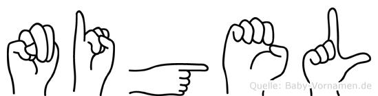 Nigel im Fingeralphabet der Deutschen Gebärdensprache