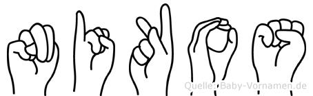 Nikos im Fingeralphabet der Deutschen Gebärdensprache