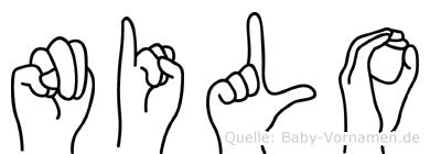 Nilo im Fingeralphabet der Deutschen Gebärdensprache