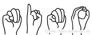 Nimo im Fingeralphabet der Deutschen Gebärdensprache