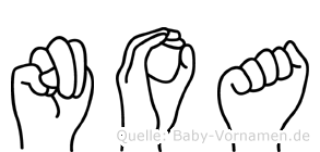 Noa in Fingersprache für Gehörlose