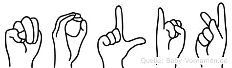 Nolik in Fingersprache für Gehörlose