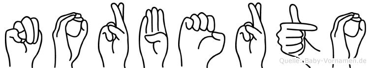 Norberto in Fingersprache für Gehörlose